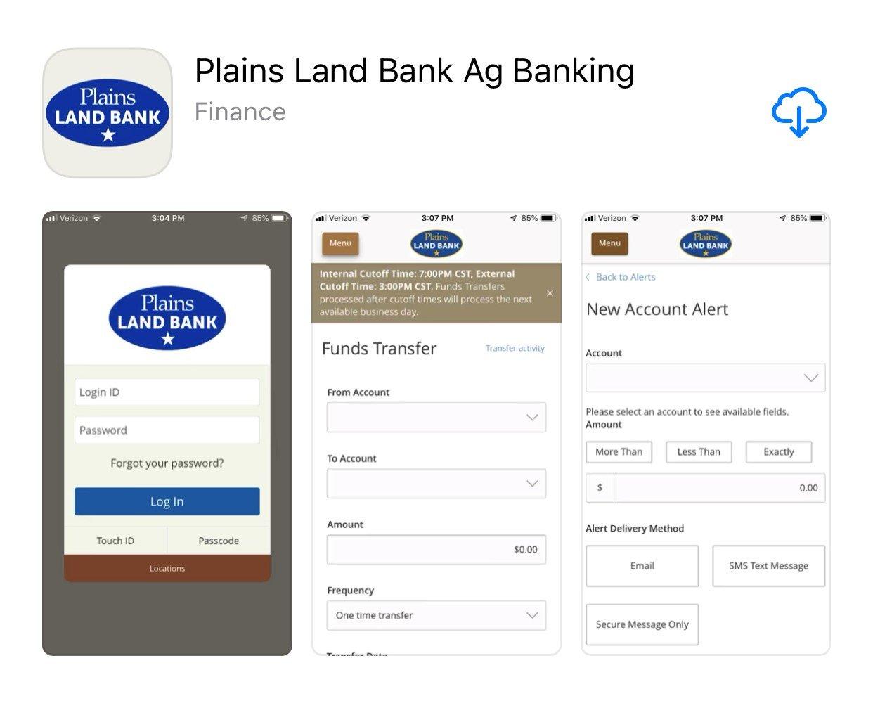 Ag Banking Online App in Apple Store